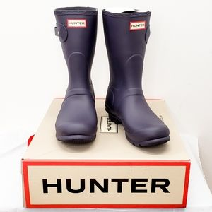 NIB Hunter Short Waterproof Rain Boot - Aubergine
